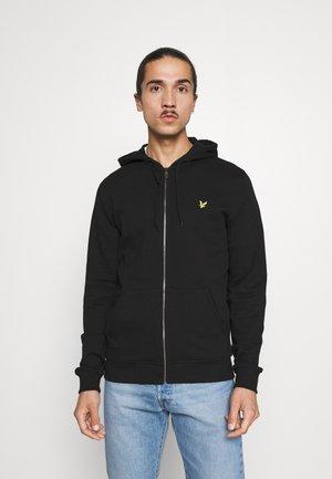 Zip-up sweatshirt - jet black