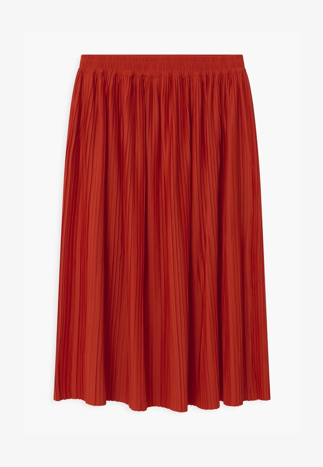 MIDI - Pleated skirt - red bright