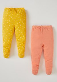 DeFacto - 2PACK - Trousers - yellow/peach - 1