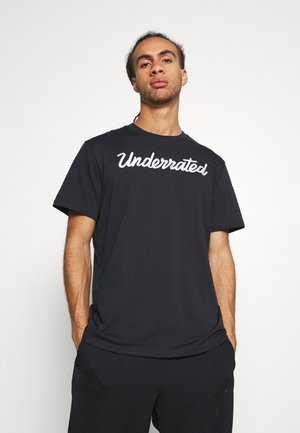 EMBROIDERED TEE - Basic T-shirt - black