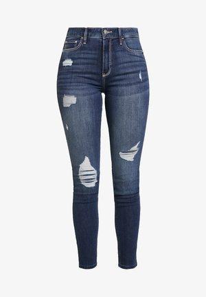 Skinny džíny - dark destroyed