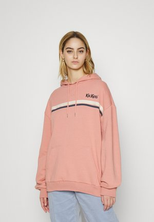 OVERSIZED HOODIE WITH CHESTSTRIPE - Sweatshirt - pink