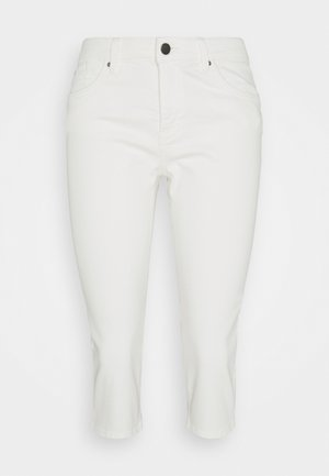 SKINNY CAPRI - Pantaloni - white