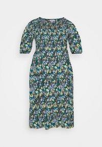 Simply Be - WAFFLE SQUARE NECK TIERED MIDI DRESS - Vestido informal - blue - 4