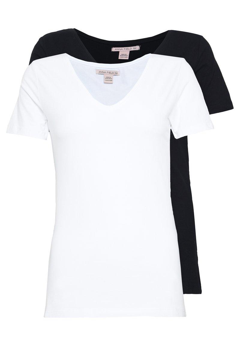 Anna Field Tall - 2 PACK  - T-paita - black/white
