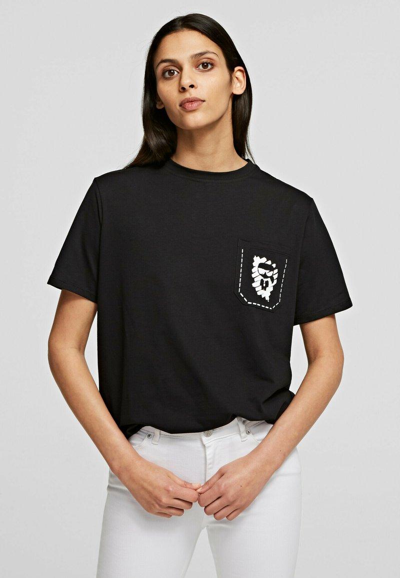KARL LAGERFELD - T-Shirt print - black
