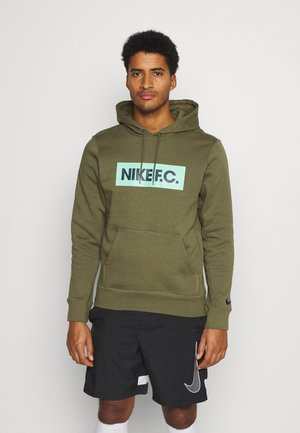FC HOODIE - Jersey con capucha - medium olive/green glow/thunder blue