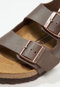Birkenstock - MILANO - Sandals - dark brown - 5