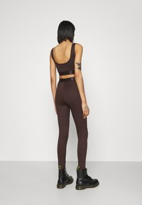 Gina Tricot - CONNIE - Leggings - Trousers - black coffee - 2