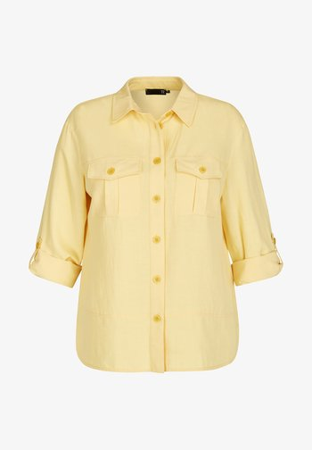 Button-down blouse - hellgelb