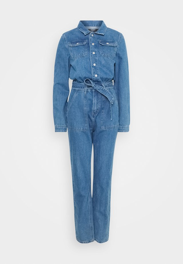 BOILER BUTTON THROUGH - Overall / Jumpsuit /Buksedragter - blue
