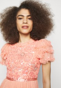 Needle & Thread - SHIRLEY RIBBON BODICE ANKLE MAXI DRESS - Festklänning - coral - 4