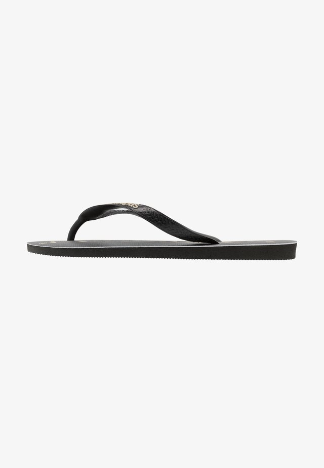 TOP LOGOMANIA UNISEX - Tongs - black/white