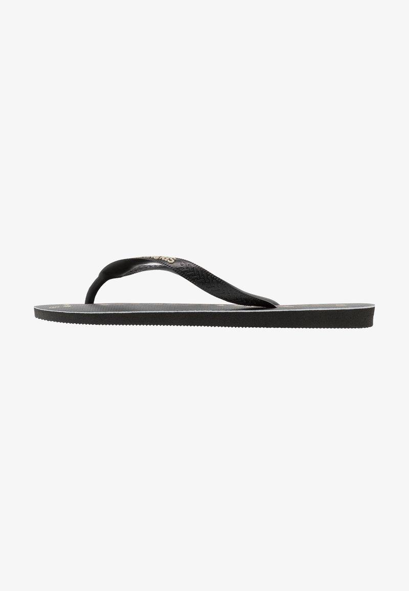 Havaianas - TOP LOGOMANIA UNISEX - Pool shoes - black/white