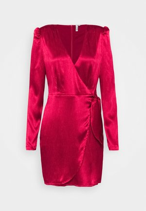 TIE WRAP DRESS - Vestido de cóctel - red