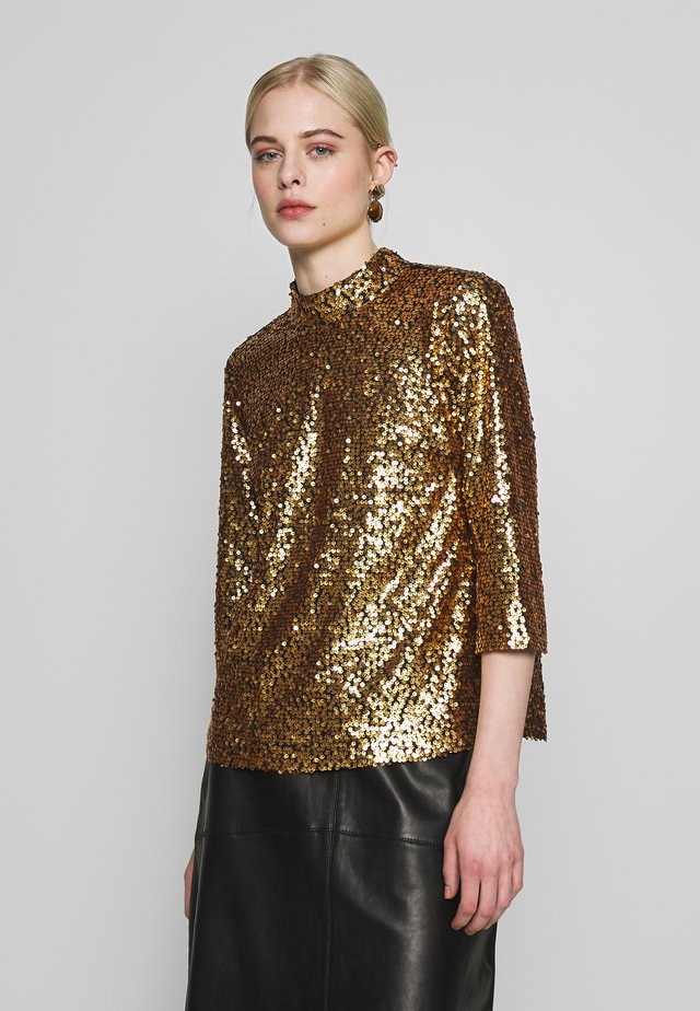 TROYE BLOUSE - Blouse - troye gold