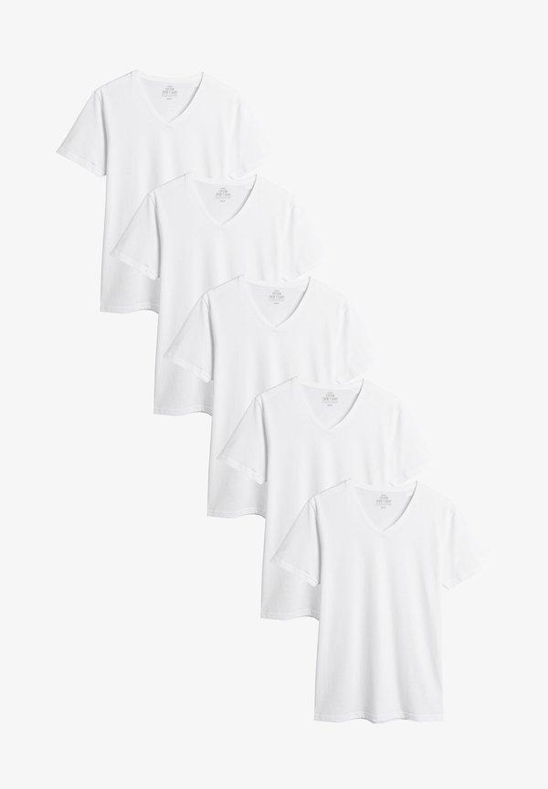 Next 5 PACK - T-shirt basic - white/biały Odzież Męska YSRX