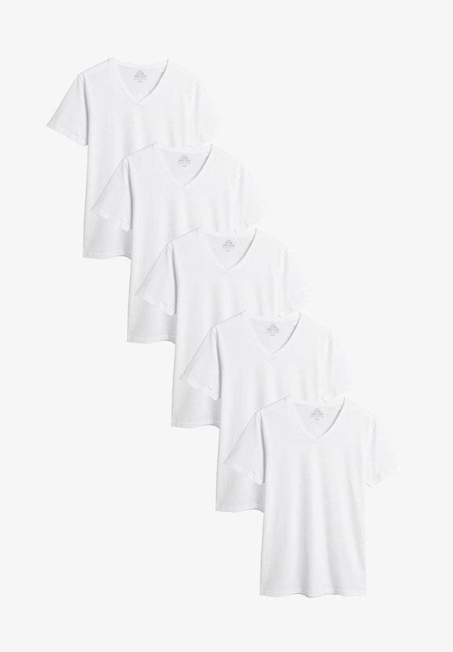 5 PACK - Jednoduché triko - white