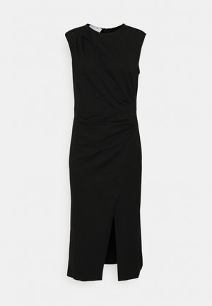 MODENA PLEAT DRESS - Pouzdrové šaty - black