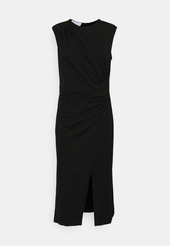 MODENA PLEAT DRESS - Vestido de tubo - black