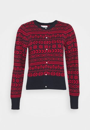 GRECIA JAQUARD - Cardigan - red