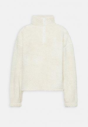 HALF ZIP - Fleece jumper - offwhite turtledove
