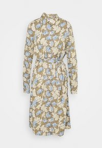 Object Tall - OBJANAIS SHIRT DRESS - Shirt dress - fossil - 0