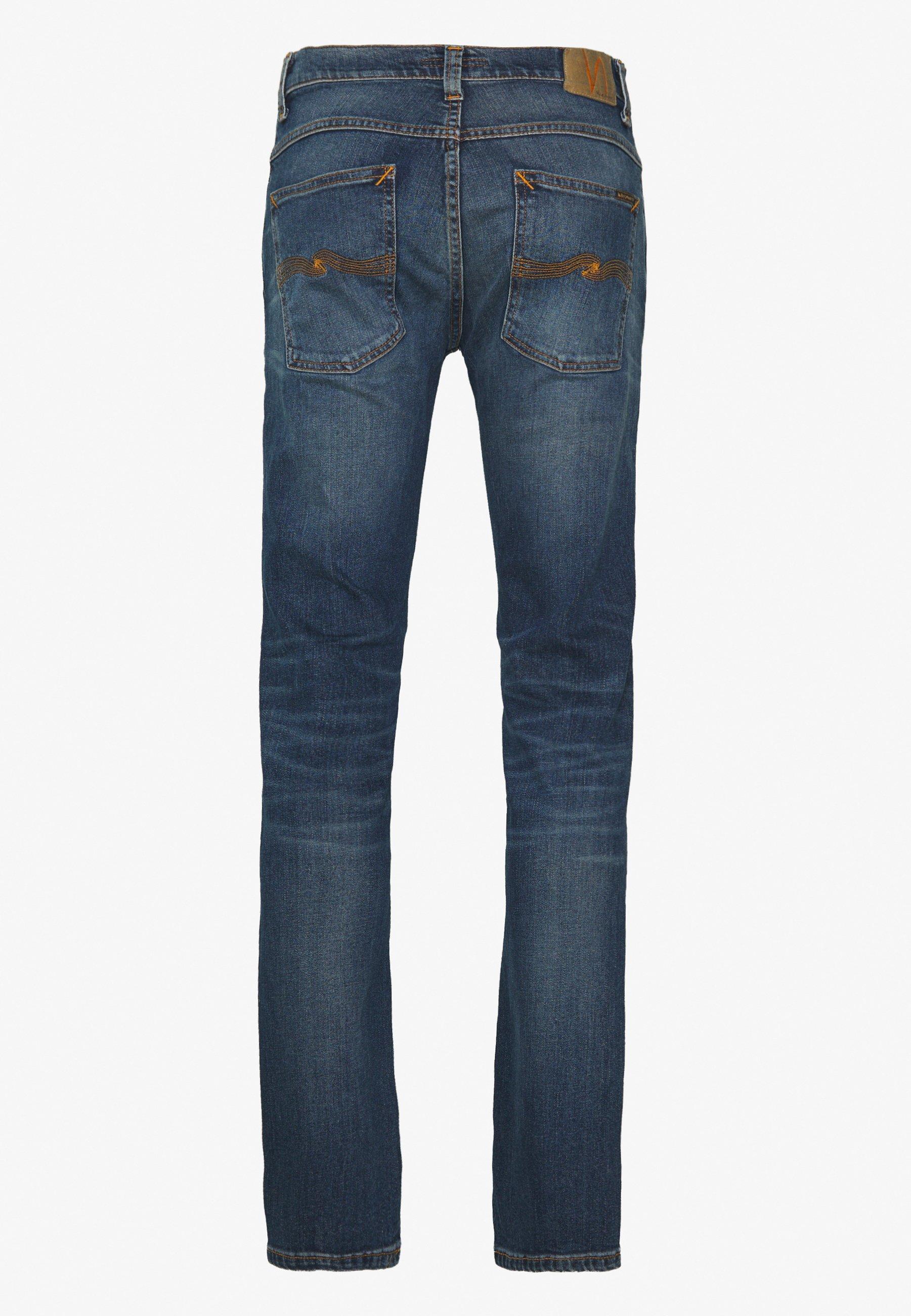 Nudie Jeans Grim Tim - Slim Fit Dark Blue Denim/mørkeblå Denim