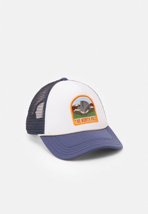 VALLEY TRUCKER UNISEX - Cap - teal/off white