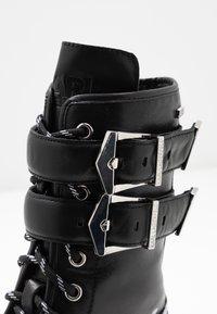 KARL LAGERFELD - TREKKA CUFF BUCKLE - Lace-up boots - black - 2