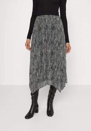 GONNA   - A-line skirt - black/white
