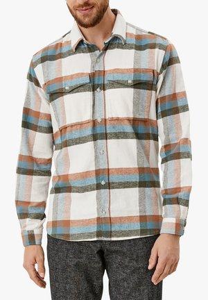 REGULAR:  MIT KAROMUSTER - Shirt - offwhite check