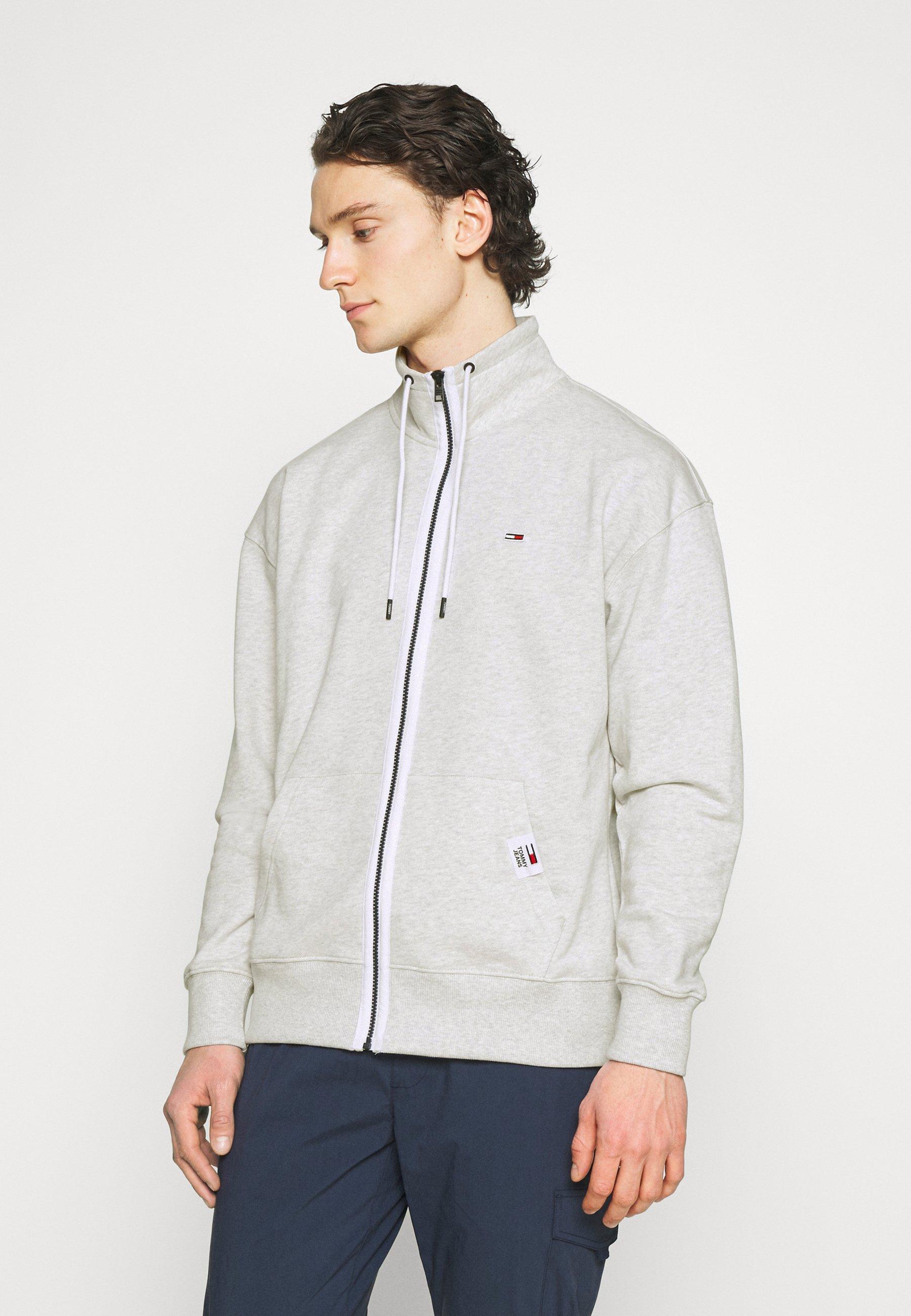 Men SOLID TRACK JACKET - Zip-up sweatshirt