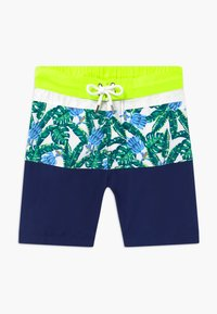 Sunuva - TEEN BOYS TROPICAL PALM  - Swimming shorts - navy - 0