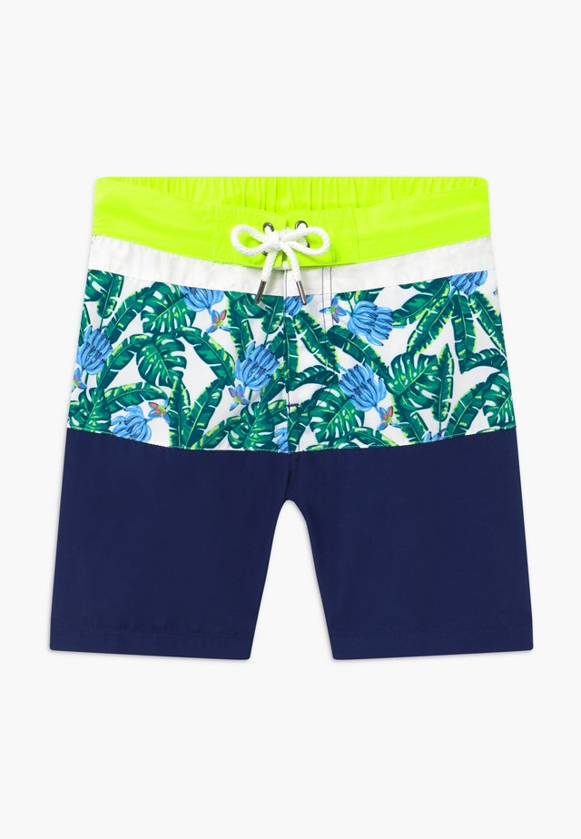 TEEN BOYS TROPICAL PALM  - Swimming shorts - navy