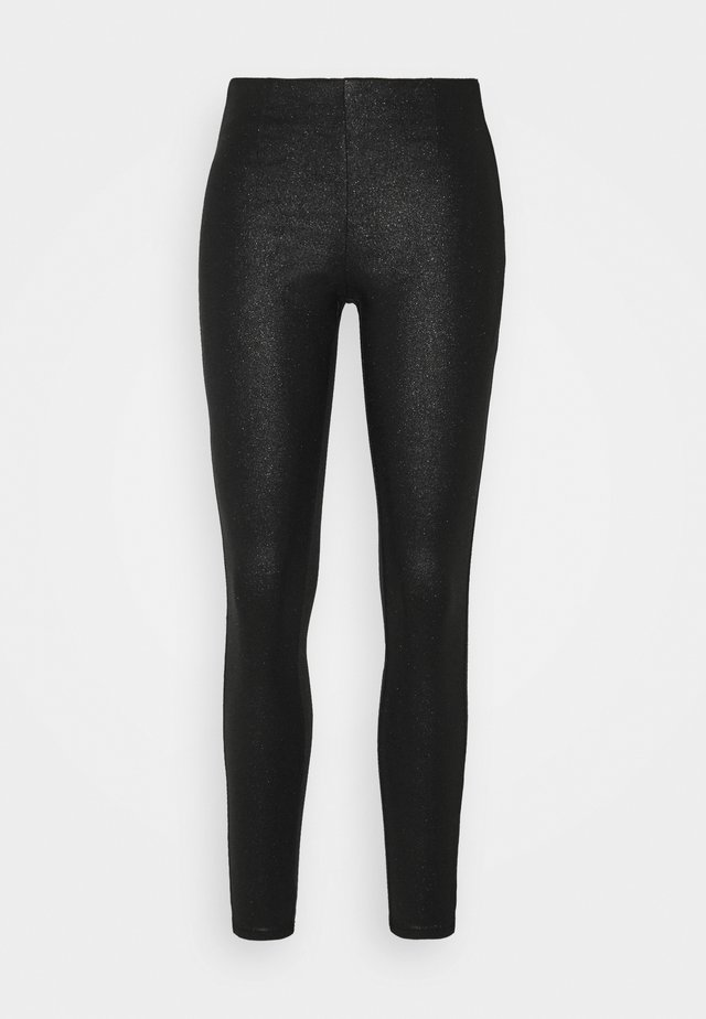 PCSKIN PARO GLITTER LEGGING  - Leggings - Trousers - black