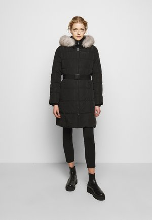 WAISTED PUFFER - Winter coat - black