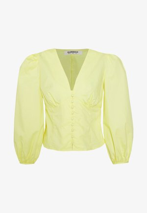 BLOUSE WITH BUTTON DETAIL - Bluser - yellow