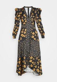 U Collection by Forever Unique - Długa sukienka - black /orange - 4