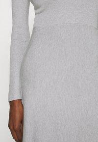 Anna Field - Strikket kjole - light grey melange - 5