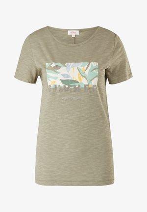 Print T-shirt - summer khaki placed artwork