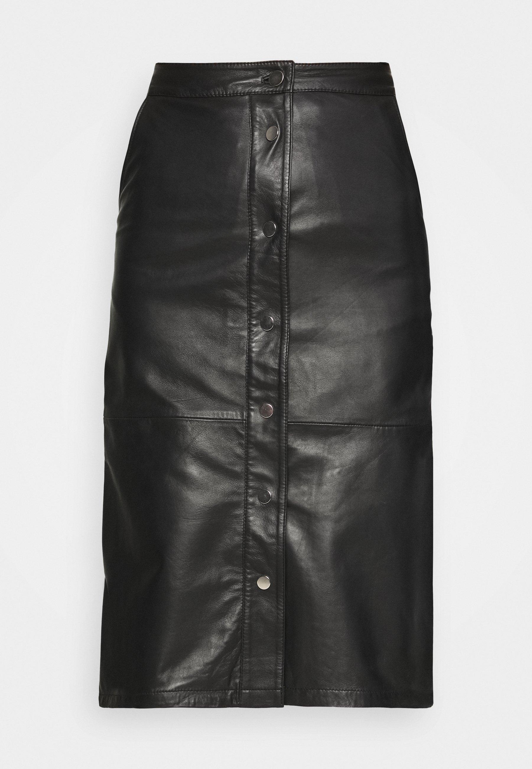 Femme LARA SKIRT - Jupe en cuir
