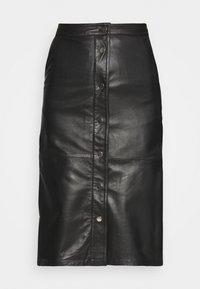 Deadwood - LARA SKIRT - Leather skirt - black - 3