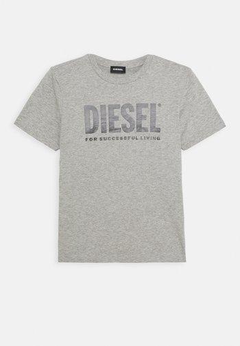 LOGO MAGLIETTA UNISEX - Print T-shirt - grigio melange nuovo