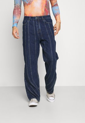 SEAM DETAIL - Relaxed fit jeans - indigo