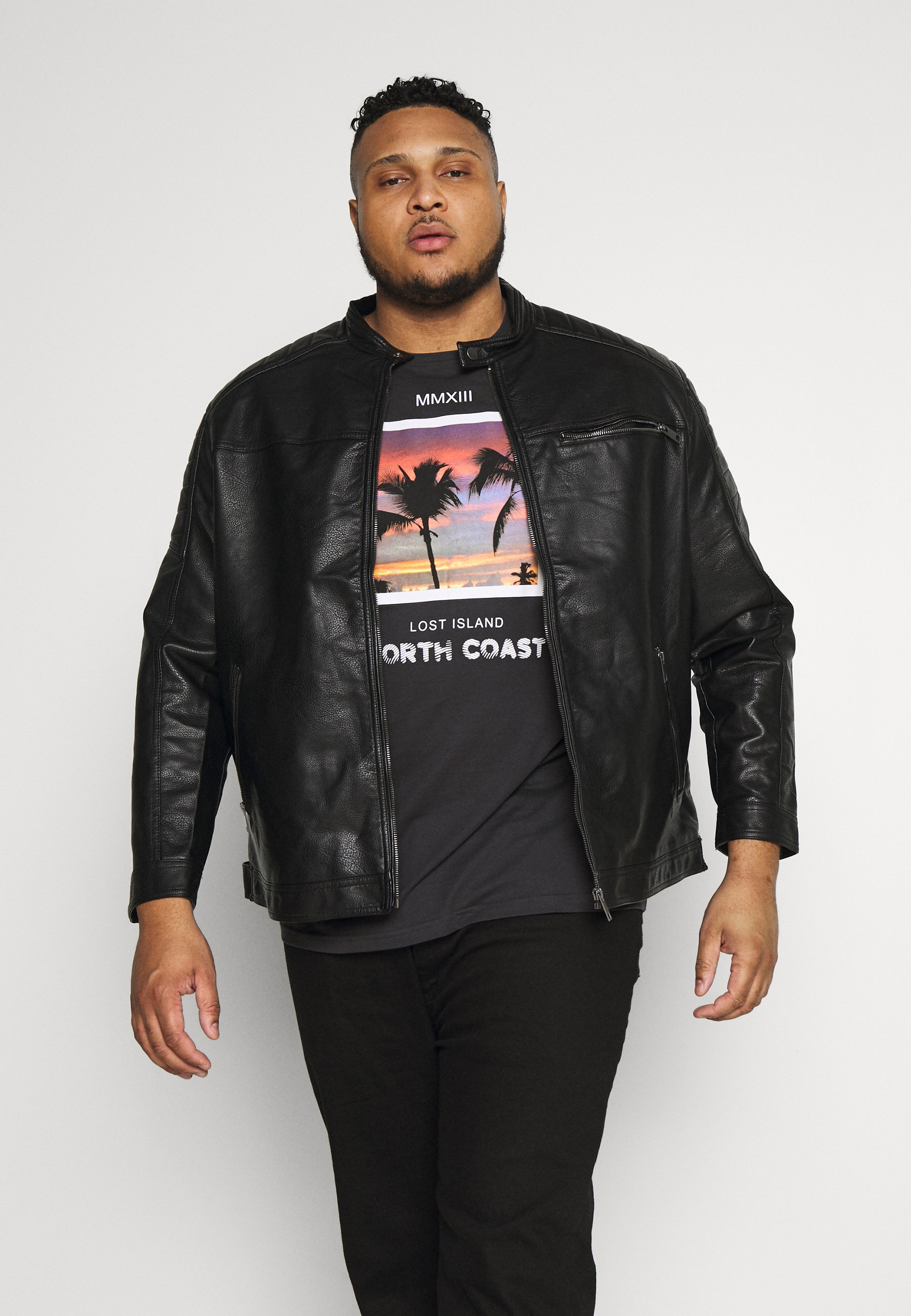 Men JCOROCKY JACKET - Faux leather jacket