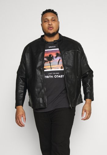 JCOROCKY JACKET - Faux leather jacket - black