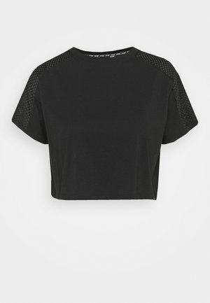 TEE CROPPED - T-shirt con stampa - black