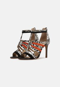 San Marina - NITOBA - High heeled sandals - noir blanc - 2