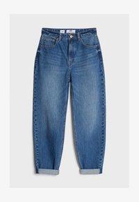 Bershka - MIT UMSCHLAG  - Jeans baggy - blue - 4
